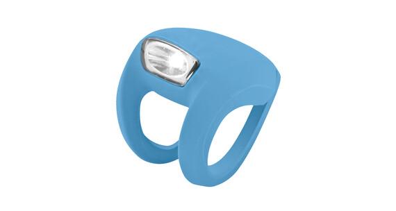 Knog Frog Strobe - Luz a pilas dilanteras - 1 LED blanco, estándar azul